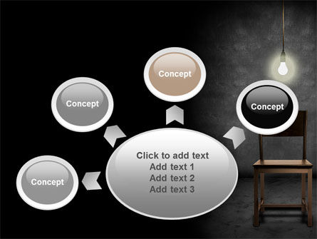 Dark Room With Chair And Lump PowerPoint Template Slide 7