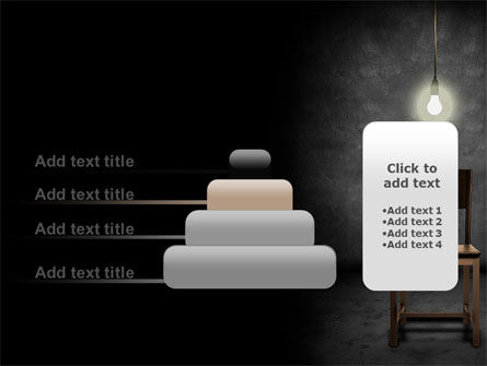 Dark Room With Chair And Lump PowerPoint Template Slide 8
