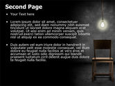 Dark Room With Chair And Lump PowerPoint Template#2