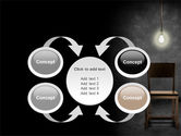 Dark Room With Chair And Lump PowerPoint Template#6
