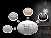 Dark Room With Chair And Lump PowerPoint Template#7