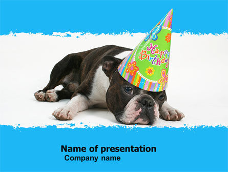 Happy Birthday Puppy PowerPoint Template, 05265, Holiday/Special Occasion — PoweredTemplate.com