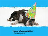 Holiday/Special Occasion: 파워포인트 템플릿 - 생일 축하 강아지 #05265
