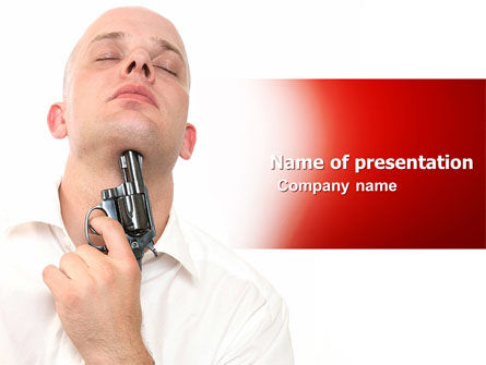 People: Suicide PowerPoint Template #05266