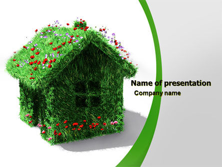 House of Flowers and Herbs PowerPoint Template, 05268, Careers/Industry — PoweredTemplate.com