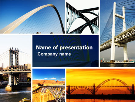 Construction: Bridges PowerPoint Template #05270
