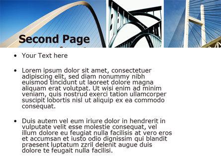 Bridges PowerPoint Template, Slide 2, 05270, Construction — PoweredTemplate.com