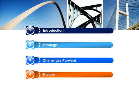 Bridges PowerPoint Template, Slide 3, 05270, Construction — PoweredTemplate.com