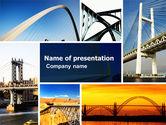 Construction: Bridges PowerPoint Template #05270