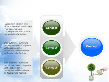 Money Tree PowerPoint Template Slide 11