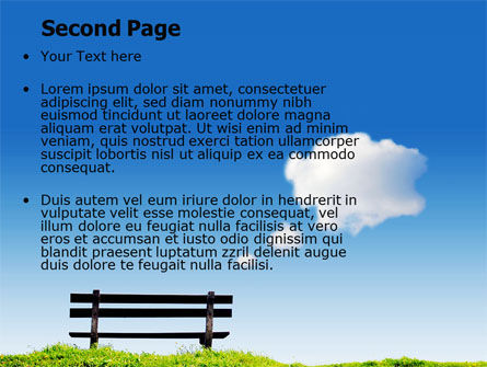 Bench PowerPoint Template Slide 2