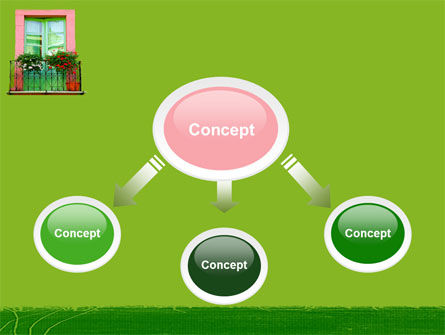 Green Apartment PowerPoint Template, Slide 4, 05277, Art & Entertainment — PoweredTemplate.com