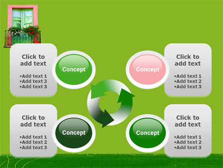 Green Apartment PowerPoint Template Slide 9
