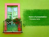 Art & Entertainment: Grüne wohnung PowerPoint Vorlage #05277