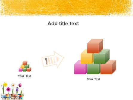 Window Flowers PowerPoint Template Slide 13