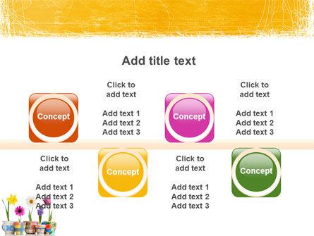 Window Flowers PowerPoint Template Slide 18