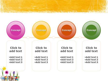 Window Flowers PowerPoint Template Slide 5