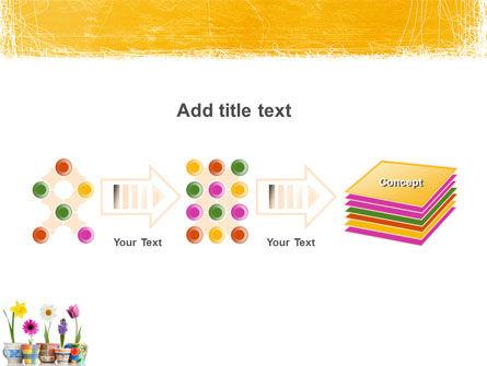 Window Flowers PowerPoint Template Slide 9