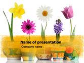 Holiday/Special Occasion: Modèle PowerPoint de fleurs de fenêtre #05278