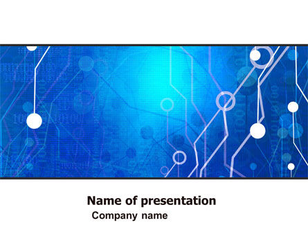 Radio Circuit PowerPoint Template, 05279, Technology and Science — PoweredTemplate.com