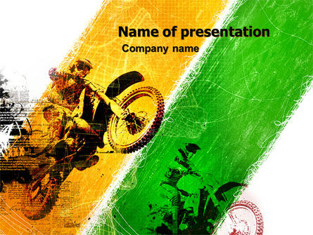 Sports: Motocross PowerPoint Template #05281