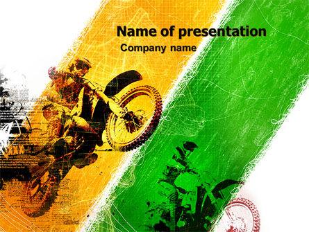 Motocross PowerPoint Template, 05281, Sports — PoweredTemplate.com
