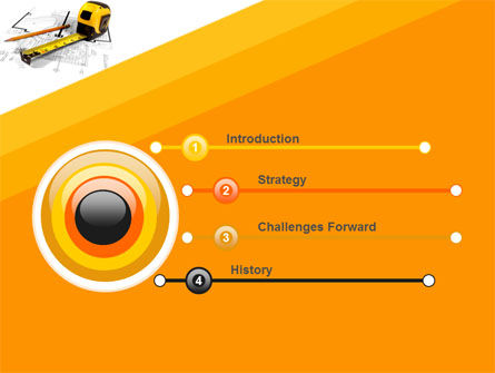 Tape Measure PowerPoint Template Slide 3