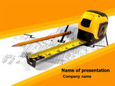 Careers/Industry: Tape Measure PowerPoint Template #05282