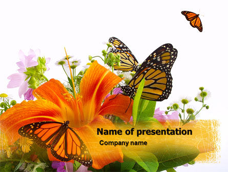 Summer Field PowerPoint Template, 05286, Nature & Environment — PoweredTemplate.com
