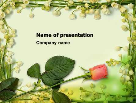 Holiday/Special Occasion: Lily Frame PowerPoint Template #05287