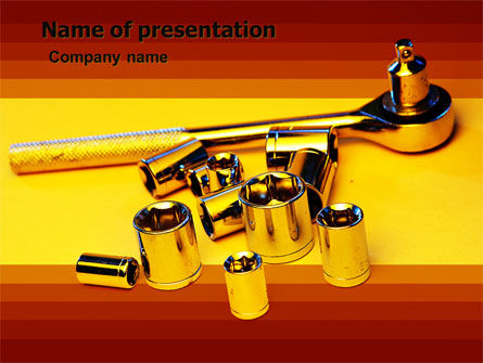 Flare Wrench Free PowerPoint Template