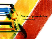 Sports: Cycle Track Racing PowerPoint Template #05292