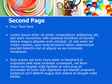 Plasticware PowerPoint Template Slide 2