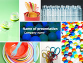 Careers/Industry: Plasticware PowerPoint Template #05293