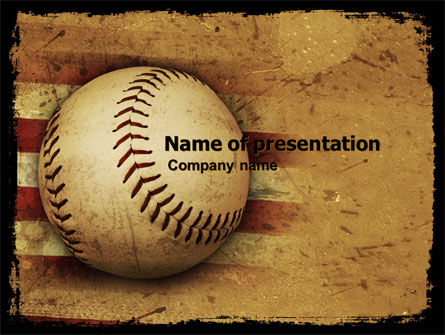American Baseball Powerpoint Template Backgrounds