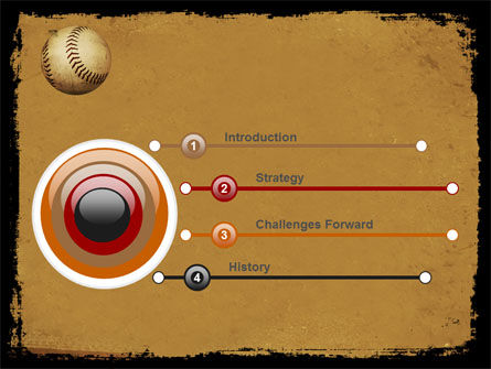 American Baseball Powerpoint Template, Backgrounds | 05296