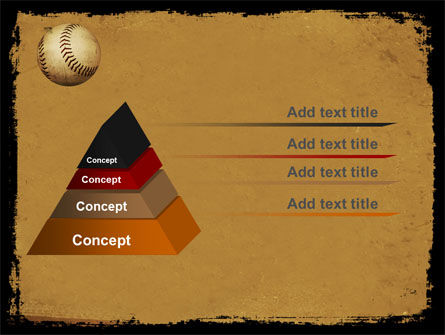 American Baseball PowerPoint Template, Slide 4, 05296, Sports — PoweredTemplate.com