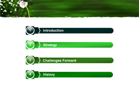 Taraxacum PowerPoint Template, Slide 3, 05297, Nature & Environment — PoweredTemplate.com