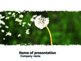 Nature & Environment: Taraxacum PowerPoint Template #05297