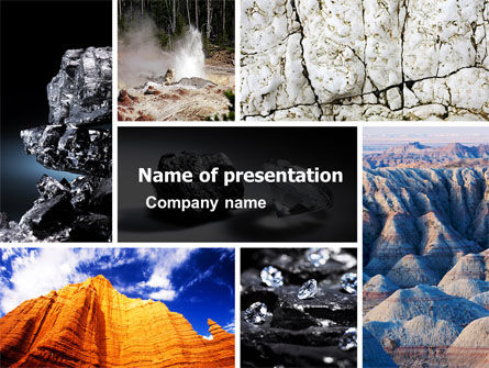 Mineral PowerPoint Template, 05298, Careers/Industry — PoweredTemplate.com