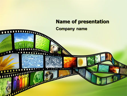 Popular Science Films PowerPoint Template, 05299, Careers/Industry — PoweredTemplate.com