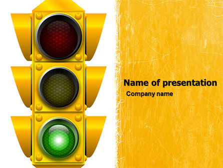 Education & Training: Traffic Light PowerPoint Template #05301