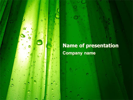 Abstract/Textures: Green Curtain PowerPoint Template #05302