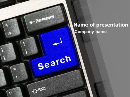 Computers: Web Search PowerPoint Template #05303