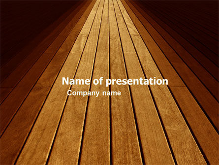 Wooden Floor PowerPoint Template, 05304, Abstract/Textures — PoweredTemplate.com