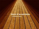 Abstract/Textures: Wooden Floor PowerPoint Template #05304