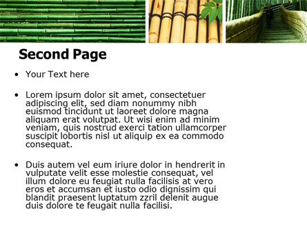 Bamboo Trees PowerPoint Template, Slide 2, 05305, Nature & Environment — PoweredTemplate.com