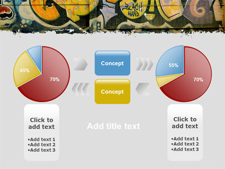 Graffiti On The Wall PowerPoint Template Slide 11