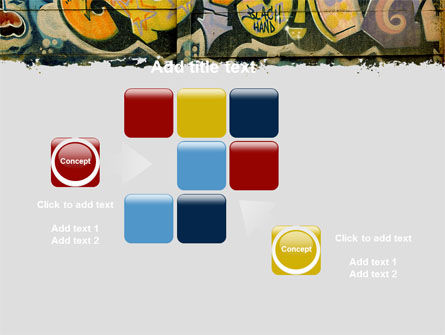 Graffiti On The Wall PowerPoint Template Slide 16