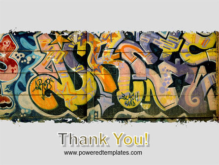Graffiti On The Wall PowerPoint Template Slide 20